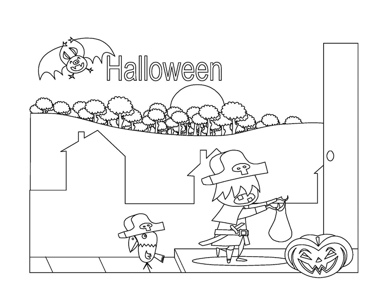 Halloween coloring book (8 pages)