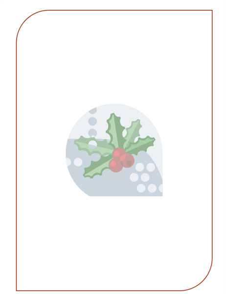 Holiday stationery (with holly leaf watermark) - Office Templates