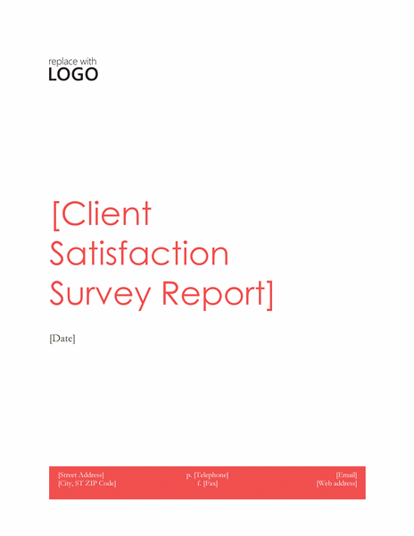 Client satisfaction survey report (Red design)