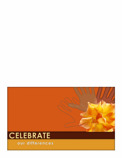 Martin Luther King Day greeting card (half-fold)