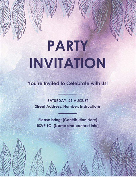 party invitation flyer - Party Invitation Template Word