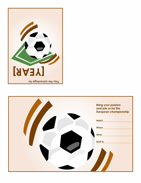 Soccer Party Invitation Quarterfold Office Templates - Birthday invitation template quarter fold