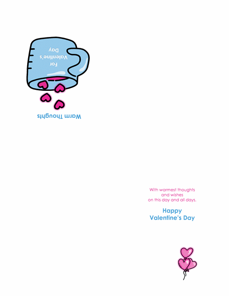Valentine's Day card (quarter-fold)