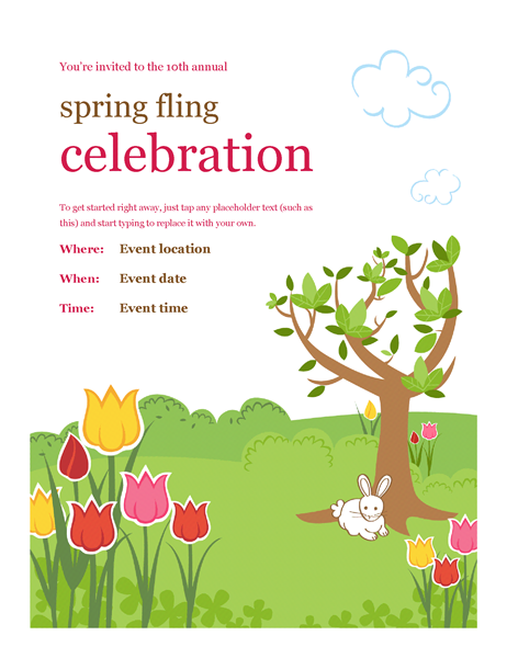 spring flyer background