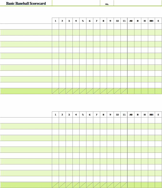 Baseball scorecard with pitch count office templates for Department scorecard template