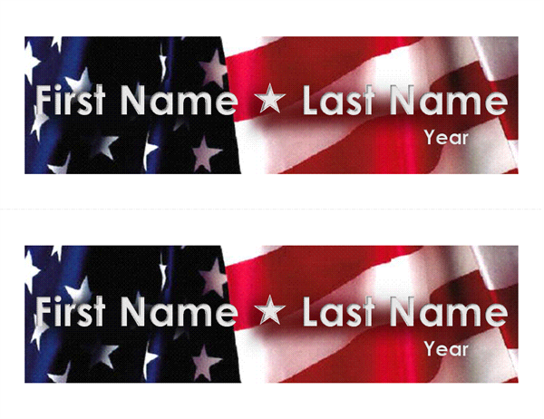 Political election campaign bumper stickers (2 per page)
