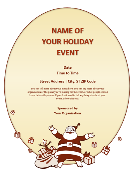 Christmas event flyer Office Templates – Microsoft Word Christmas Letter Template