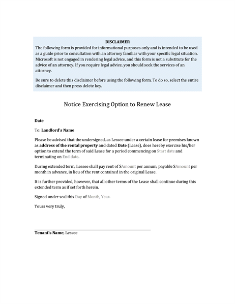 leases and lease option memo Do options to extend in a commercial lease guardian commercial realty most commercial tenants believe that securing an option to extend their lease term this is often the most controversial issue between the landlord and tenant when negotiating extension options some leases.
