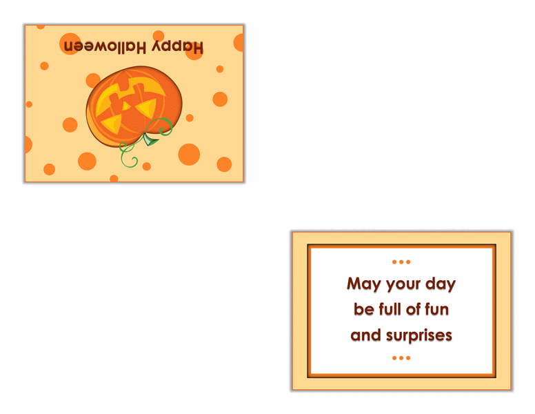 Halloween card (quarter-fold)