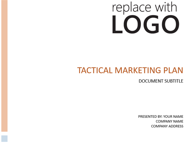 Tactical business marketing plan flashek