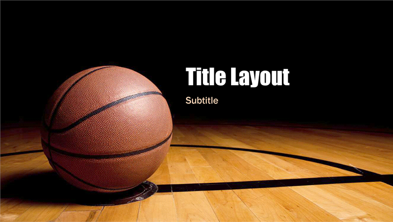 basketball presentation (widescreen) - office templates, Modern powerpoint