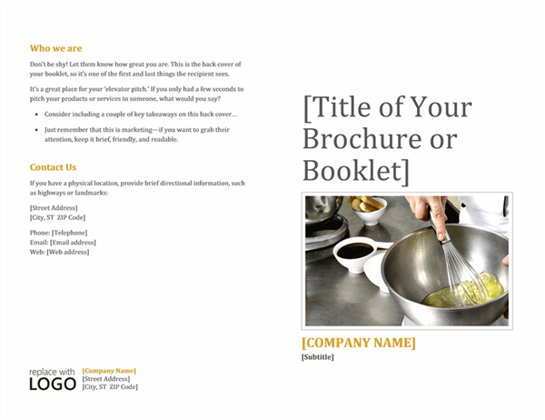 Brochures Office – Blank Brochure Template Word