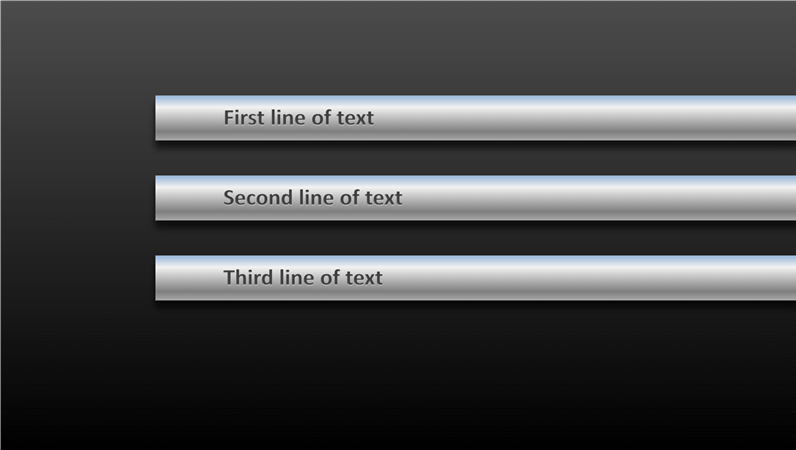 Animation slide: Rotating tubes with text (widescreen)