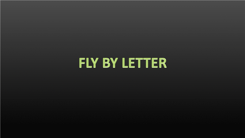 Animation slide: Text flies in by letter (widescreen)
