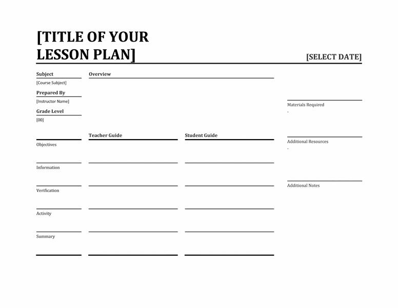 Daily lesson planner (landscape)