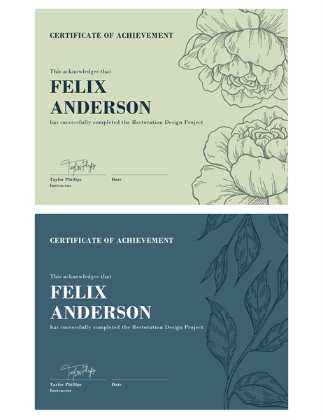 Certificates for Certificate of accomplishment template