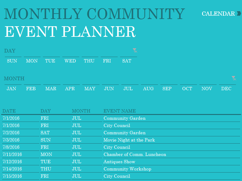 Event Planner Calendar : Calendars office