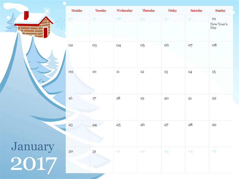 Ppt calendar template 2018 fieldstation 2017 illustrated seasonal calendar mon sun office templates toneelgroepblik Image collections