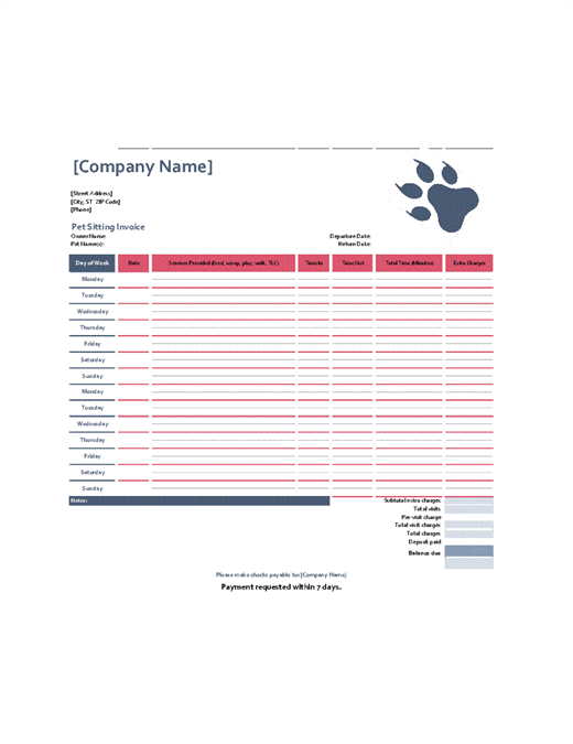 Petsitting Invoice Office Templates - What is invoice number on receipt online pet store