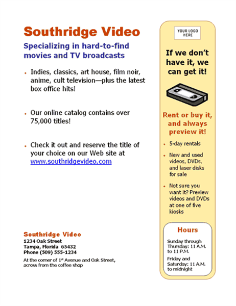 Small business flyer cheaphphosting