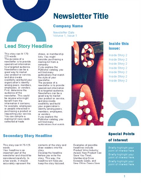 Business newsletter (Arc design, 4 pages)