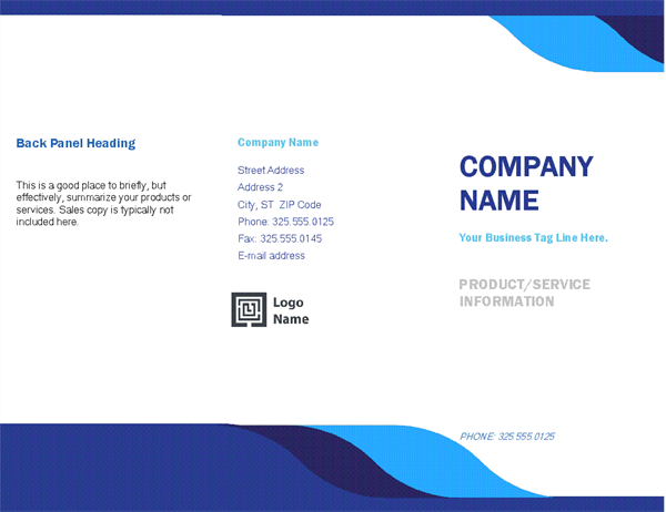 Brochures Office – Free Download Brochure Templates for Microsoft Word