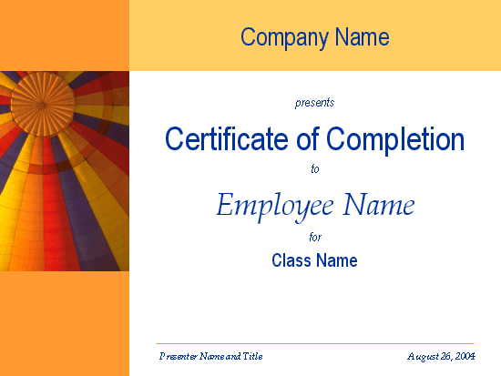 Certificate of training completion Office Templates – Sample Certificate of Training Completion