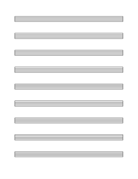Blank and General Office – Music Staff Paper Template