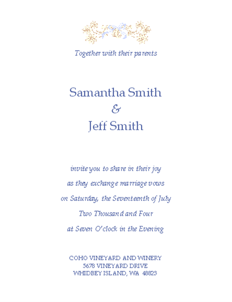 Invitations office wedding invitation traditional stopboris Choice Image