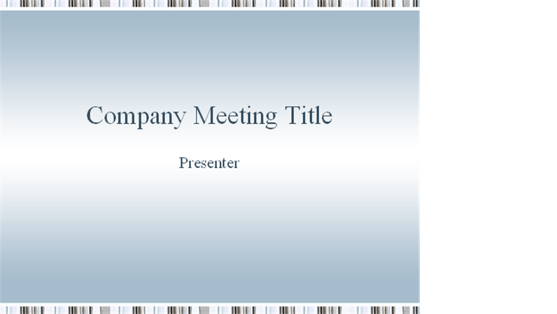 Company meeting presentation
