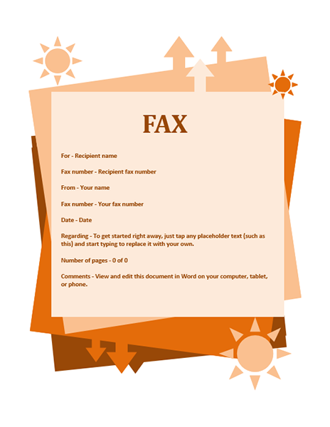 Fax Covers Office – Fax Word Template
