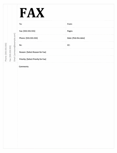 Perfect Fax Cover Sheet (Academic Design) Within Fax Template Free