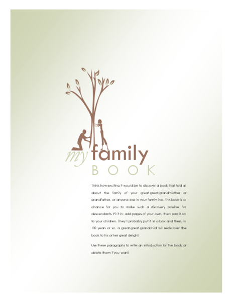 family history book samples akba katadhin co