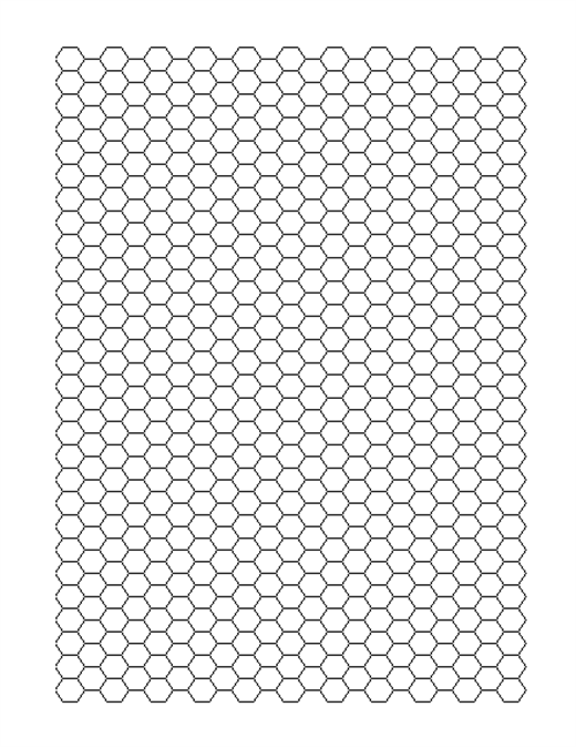 printable hex grid