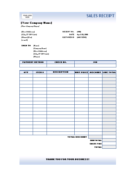 Ms Invoice Sales Receipt Blue Gradient Design  Office Templates Invoice Price For Mazda Cx-5 with St Louis County Personal Property Tax Receipts Word Sales Receipt Blue Gradient Design Epson Receipt Printer Driver Download