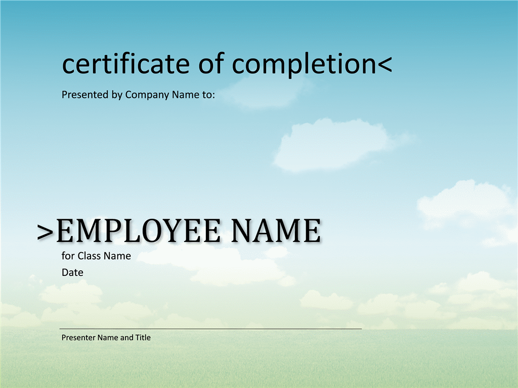 Certificate Of Completion For Course  Certificate Templates For Word