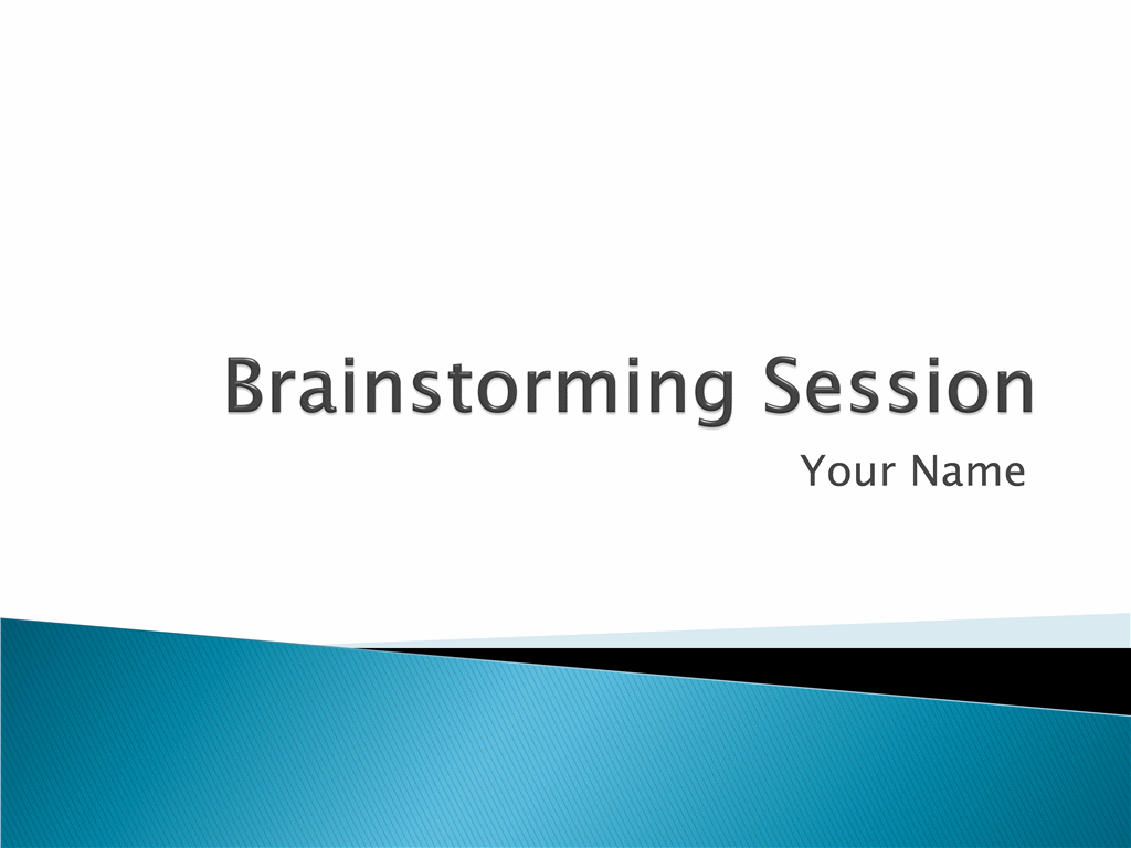 Presentation on brainstorming