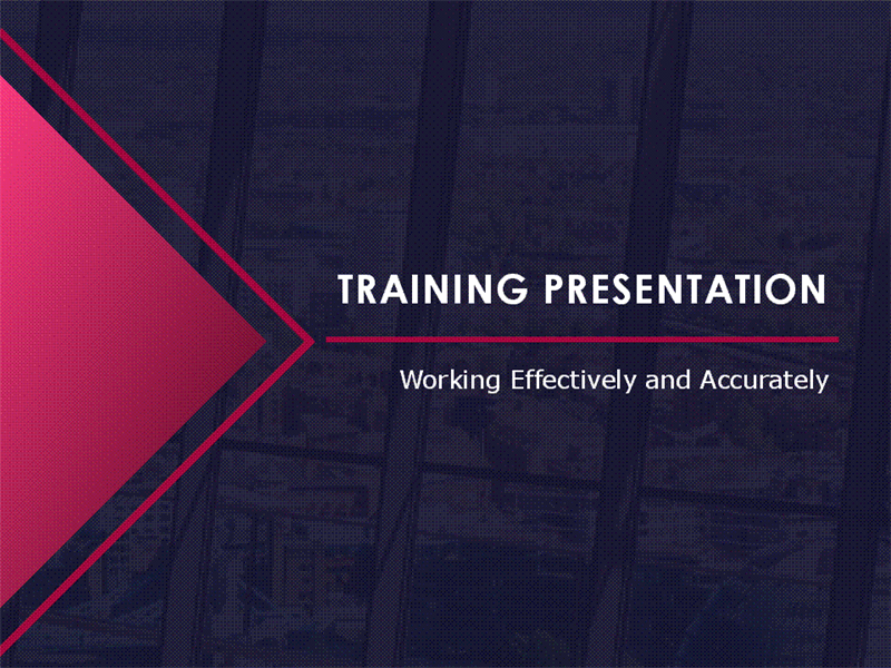 Training seminar presentation