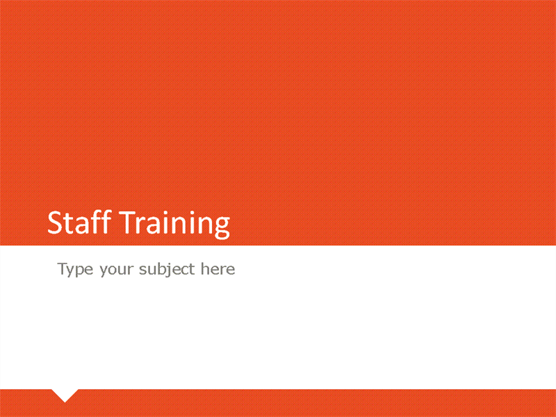 Papers and reports for Staff training manual template
