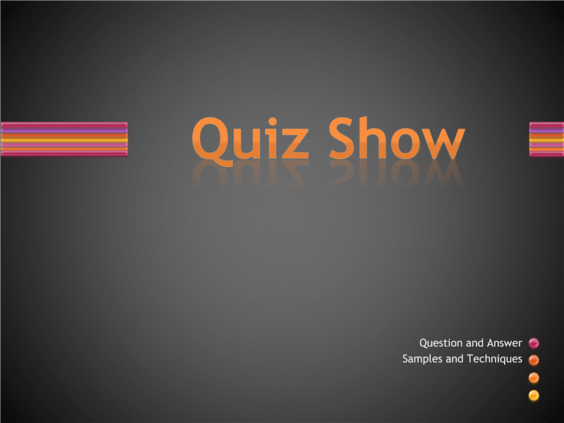 powerpoint template quiz show choice image powerpoint