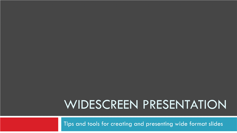 Widescreen presentation office templates widescreen presentation toneelgroepblik Images