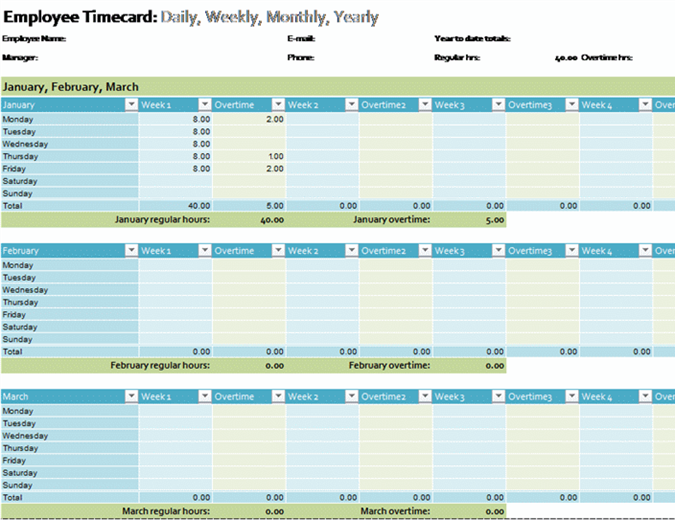 Schedules office employee timecard pronofoot35fo Gallery