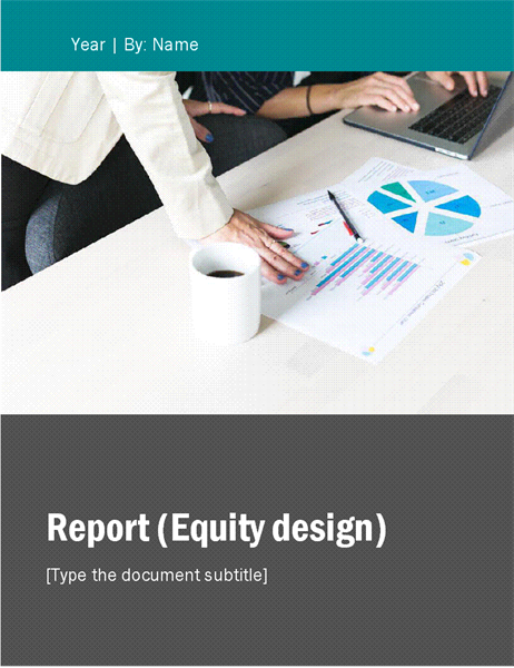Report Equity theme Office Templates – Business Reporting Templates