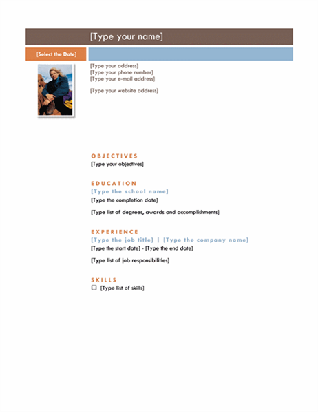 Resume (Median theme)