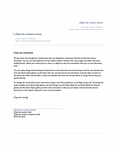 Letters Office – Letter Template Microsoft Word