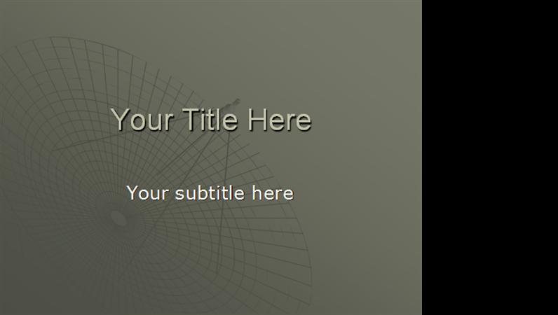 Satellite Dish design template