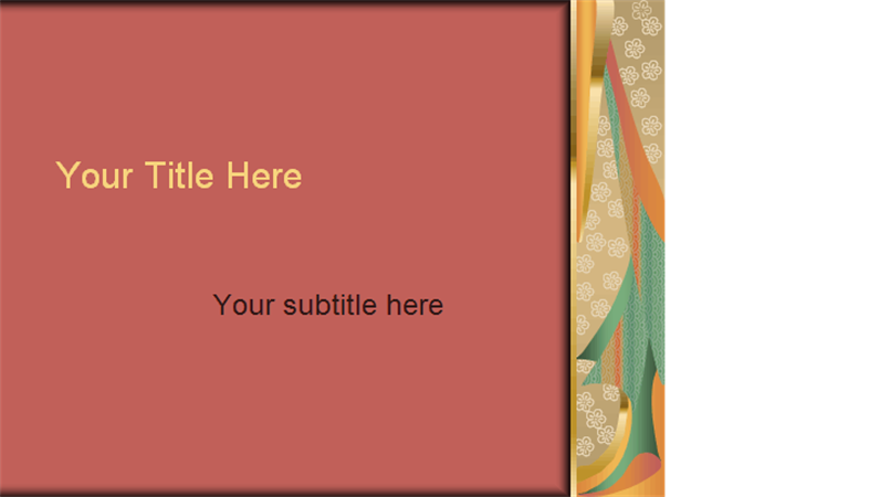 Kimono design template