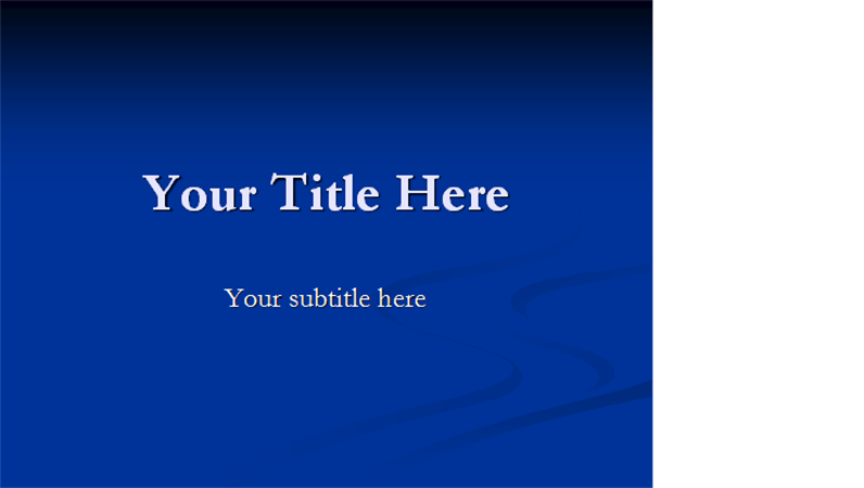 Stream design template