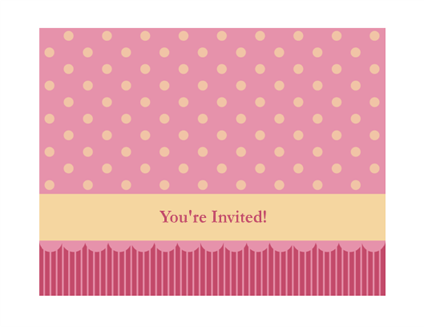 Generic invitation pink and yellow Office Templates – Templates for Invitation