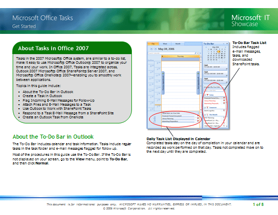 Training Guide—Microsoft Office tasks: Get started
